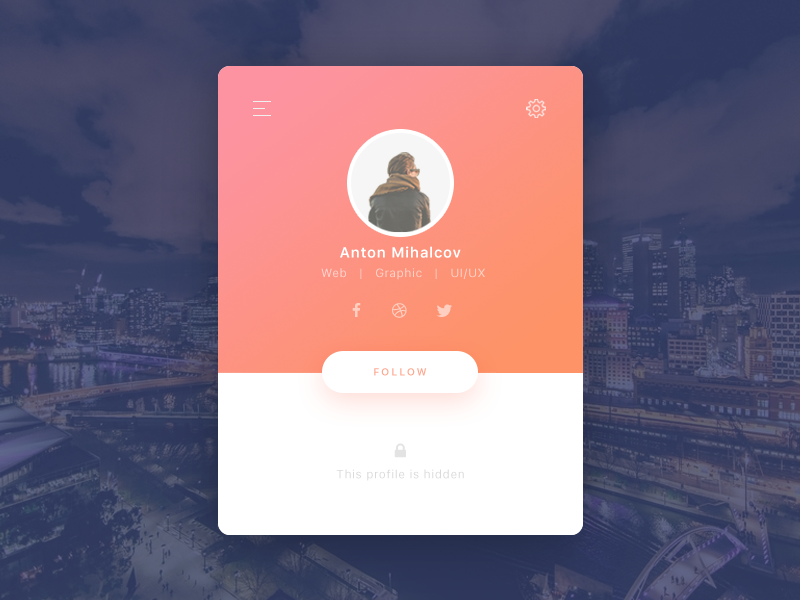 Daily UI — profile page